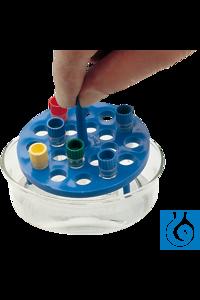neoLab® Wasserbadeinsatz für 20 Kryoröhrchen Runder Wasserbadeinsatz, schwimmend, für 20...