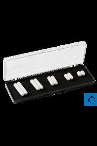 Magnetic stirring bars set, 5 sizes  Magnetrührstäbchen Satz bestehend aus 5 Größen (10 x 6, 15...