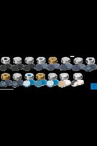neochrom® Mittelabrisskappe ND20, farblos lackiert Septum Butyl/PTFE, 50° shore