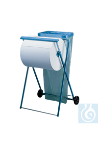 neoLab Cleaning towel dispenser, mobile, with holder Floor standMobile, from blue metal. With...