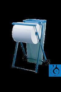 neoLab® Reinigungstuch-Spender fahrbar, mit Halterung Bodenständer Fahrbar, aus blauem Metall....