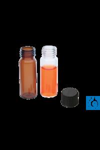 neochrom® Autosampler-Vials 4 ml, Braunglas, 45 x 15 mm, ND 13, 100 St./Pack Autosampler-Vials 4...