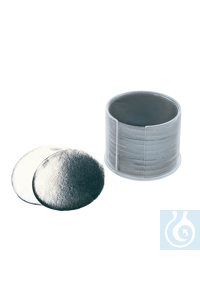 neoLab Round aluminum disks with 80 mm Ø, 0.03 mm, 1000 pcs/pack Aluminum foil in prefabricated...