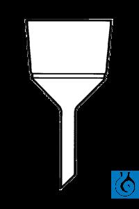 ecoLab Filternutschen aus Porzellan, weiß glasiert, 70 mm Ø, 90 ml nach Büchner, weiß glasiert