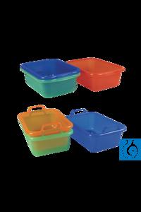 neoLab® Rechteckschüssel aus PP, 10 l Kunststoffschüsseln aus PP, farbig sortiert Best.-Nr....