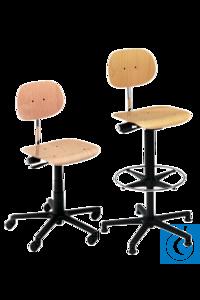 neoLab® Drehstuhl Buche mit Rollen, Sitzhöhenverst. ca. 42-54 cm Komfortable Drehstühle,...