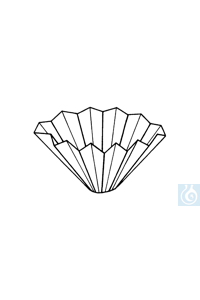 Ahlstrom Falternfilter qualitativ, 292 a, 240 mm Ø, 100 Stk/Pack Faltenfilter für die...