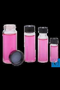 Vials 30 ml Klarglas, Kappe geschlossen, Septum Butyl/PTFE, 100 St./Pack Probenfläschchen aus...