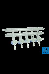 neoLabLine® Schlenkline / Stickstoff-Verteilerrechen mit 5...