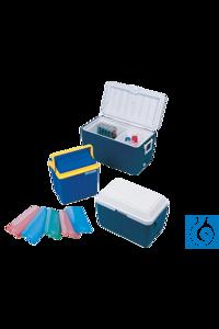 neoLab® Kühlbox 26 l, 35 x 22 x 38 cm Kühlbehälter aus schlagfestem Polystyrol, innen mit...