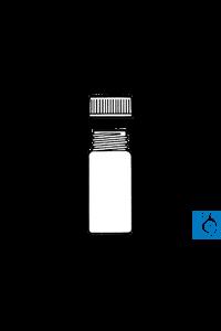 neoLab® Gewindefläschchen m. Deckel, Sodakalk-Glas, 45 x 27 mm, 15 ml, DIN 25...