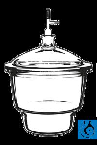ecoLab Exsikkator Glas 200 mm, NS 24/29 und Ventil Der neoLab-Exsikkator mit Normschliff 24/29...