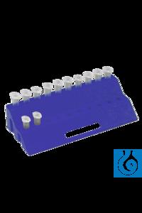 neoLab® Reaktionsgefäß-Ständer, steckbar, blau Zweistufiges Gestell für 20 Reaktionsgefäße 1,5...