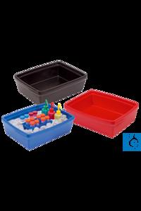 neoLab® Eiswanne Maxi-Coolit 9 l, rot Robuster Eisbehälter aus geschäumtem PU Geeignet für Eis,...