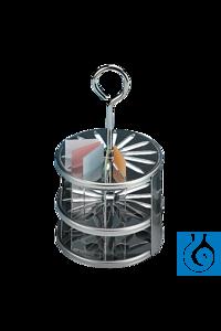 neoLab® Edelstahl-Gestell, rund, für 14 Objektträger neoLab® High-grade steel rack, round, for 14...