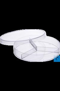 Moonlab® Petrischale, Ø: 90 mm, Höhe: 15 mm, 3 Fächer, PS, 50x10 Stk/Pack...