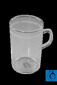 Duranglas-Becher mit Henkel, 6 St./Pack Laborbecher mit Henkel Aus Glas, in zylindrischer Form....