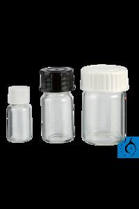 neoLab® Mikrofläschchen 5 ml, 100 St./Pack Fläschchen aus Klarglas mit Schraubverschluss aus...
