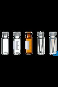neochrom® Schnappringflaschen 1,5 ml ND11, weite Öffnung, Klarglas, 100 St./Pack...