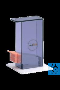 neoLab® Spender für Objektträger 76 x 26 mm Handlicher Spender aus Plexiglas für...
