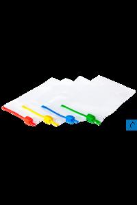 neoLab® Ziplock Beutel, Verschluss gelb, Gr. 80x120 mm, 3 x 40 Stck./Pack Transparenter...