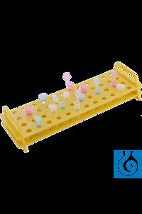 Moonlab® Rack f. Reaktionsgefäße (1.5/2.0 ml), 24 Plätze, gelb, PC, 1 Stk...