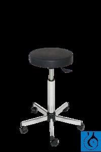 neoLab Laborhocker mit Rollen und Fußring, PU-Komfort-Schaum-Sitzfläche, höhenverst.59-83 cm...