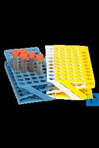 neoLab® Reagenzglasgestell weiß, ABS-Kunststoff, Z-Form, Ø: 17 mm, 225 x 114...
