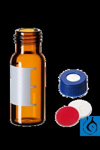 neochrom® 2 ml Schraubfläschchen, Klarglas, mit Schriftfeld, Gewinde 9-425,...