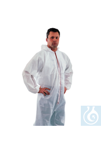 neoLab Overall, white, EN 340 cat. 3, 4, 5, size M Soft, light and breathable overall, perfectly...