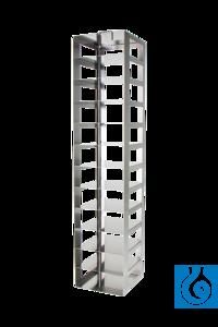 Cryomaster® Truhengestell mit Sicherungsstab für 11 Kryoboxen 136x136x53 mm...