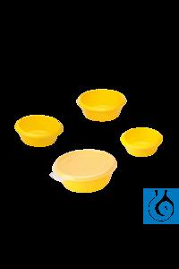 neoLab® Laborschüsseln, 4-teiliges Set, brombeer/limone, mit Deckel, 24-36 mm Ø Runde Laborwannen...