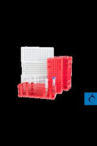 neoLab® Reagenzglasgestell für Autosampler, weiß, 6 x 15 Löcher für Röhrchen...
