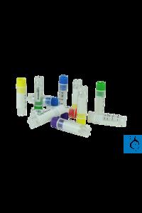 Cryomaster® Kryoröhrchen mit Innengewinde, 2.0 ml, Standring, 1D-Barcode, weiße