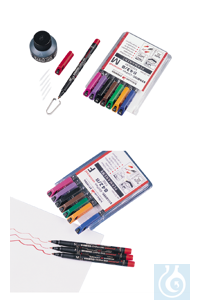 neoLab Foil pens permanent, fine, 8 colors Foil pens with permanent ink in a set of 8. Writes on...