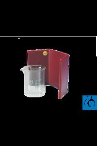 neoLab® Blei-Schutzschirm mit Überzug Gebogener Blei-Schutzschild zum Schutz vor starken...