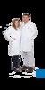 neoLab® Labormantel Herren, BW, Reverskragen, 1/1 Länge, Gr. 46 Labor-Berufsmäntel aus 100%...