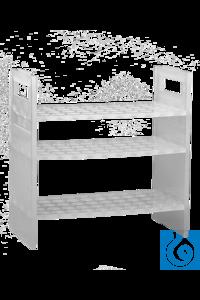 neoLab® Pipettengestell (PP) reckteckig, für 50 Pipetten Platzsparende Pipettenaufbewahrung durch...