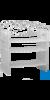neoLab Pipettengestell (PP) reckteckig, für 50 Pipetten Platzsparende Pipettenaufbewahrung durch...