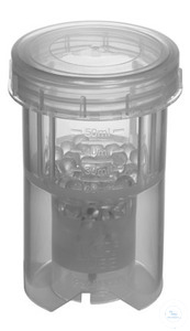 Mischgefäß BMT-50-G 50 ml, mit Glaskugeln, geschlosssener Deckel, VE=10