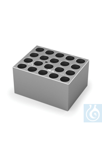 DB 4.4 Single block for Round bottom tubes (12 / 13 mm), Pore size 13,9 mm,...
