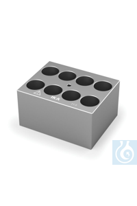DB 4.6 Single block for Round bottom tubes (20 mm), Pore size 21,0 mm, Depth...