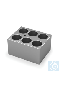 DB 4.7 Single block for Round bottom tubes (25 mm), Pore size 26,2 mm, Depth...