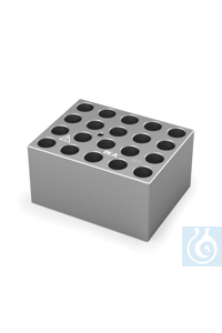 DB 5.1 Single block for 12 mm vials, Pore size 12,7 mm, Depth 30,0 mm 