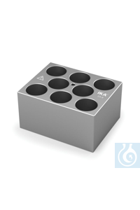DB 5.6 Single block for 23 mm vials, Pore size 23,8 mm, Depth 45,0 mm 