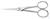 Mikroskopier-Schere 130 mm, spitz gerade, geschmiedet
