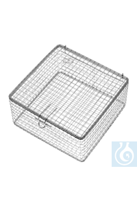 Wire basket with cover, 180 x 180 x 90 mm