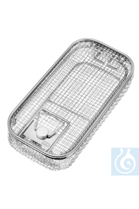 Wire basket with cover and handle, 250 x 130 x 60 mm