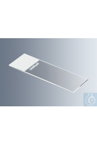 Microscope slides UniMark® white, cut edges with white marking field, approx. 76x26x1 mm, cut...