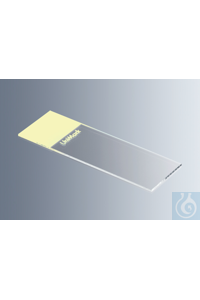 Microscope slides UniMark® yellow, cut edges with yellow marking field, approx. 76x26x1 mm, cut...